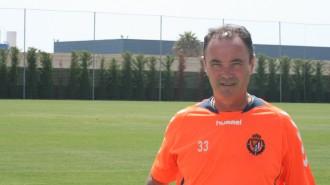 Juan Ignacio Martínez durante un entrenamiento en el Pinatar Arena (AupaPucela.com)