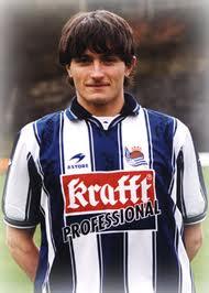 Joseba Llorente en sus inicios en la Real Sociedad