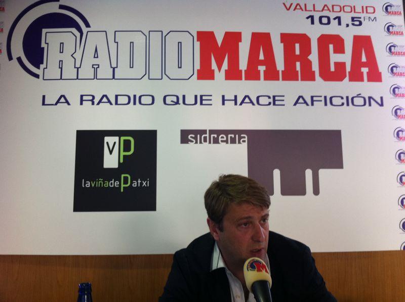 Carlos Suárez durante la entrevista en Directo Marca Valladolid