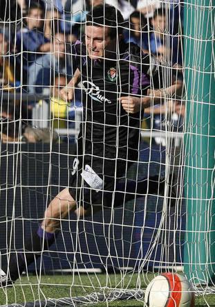Joseba Llorente celebra el gol de la salvación de 2008 en Huelva (El Norte de Castilla)