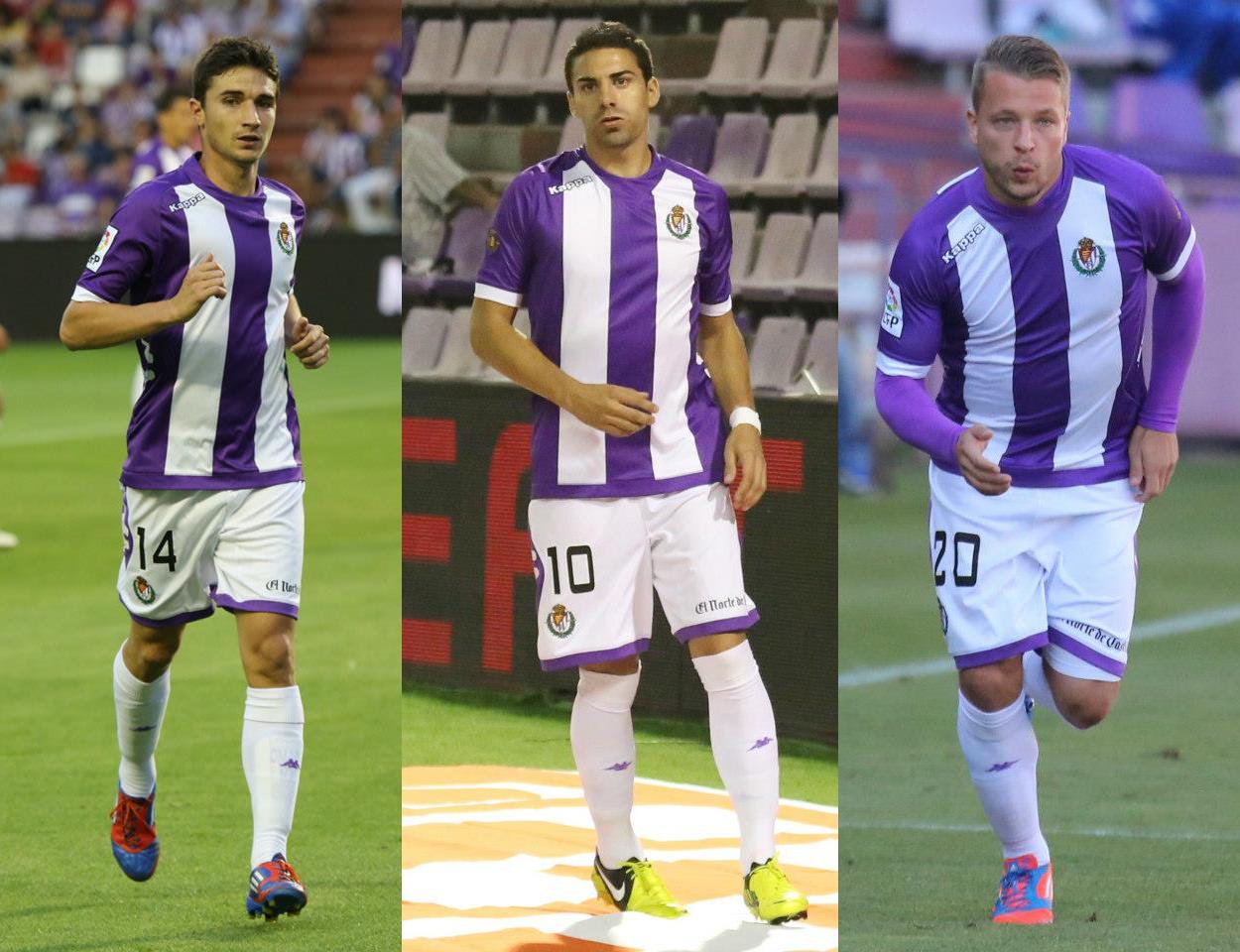 Omar, Óscar y ebert en diferentes partidos de la temporada pasada (RealValladolid.es)