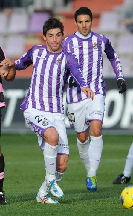 Víctor Pérez y Óscar, jugadores lesionados actualmente, durante la campaña 2011/2012. (RealValladolid.es)