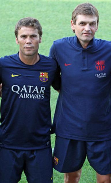 Rubí y Vilanova en el primer entrenamiento
