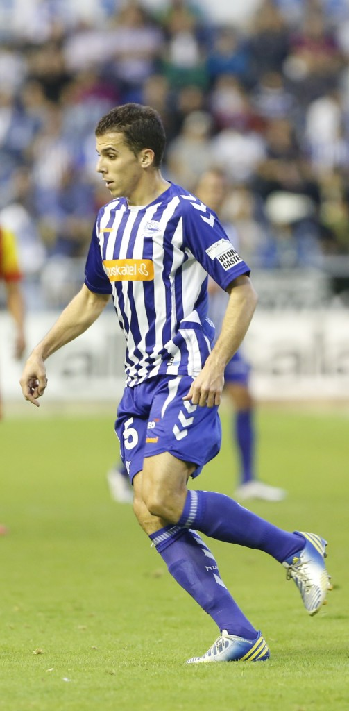 Carlos Lázaro enun partidode este año (DeportivoAlavés)