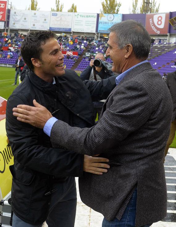 Rubi y Paco Herrera antes del duelo del domingo (RV.es)