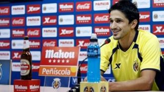 Jonathan Pereira en una rueda de prensa tras regresar al Villarreal