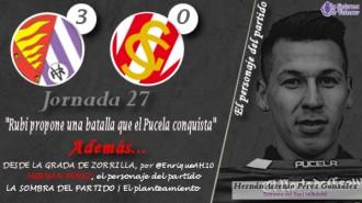 La infografía sobre la victoria (3-0) del Real Valladolid ante el Sporting de Gijón, con HERNÁN PÉREZ como protagonista