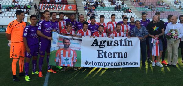 Imagen del encuentro del Real Valladolid y el Zamora antes del Memorial Agustín Villar