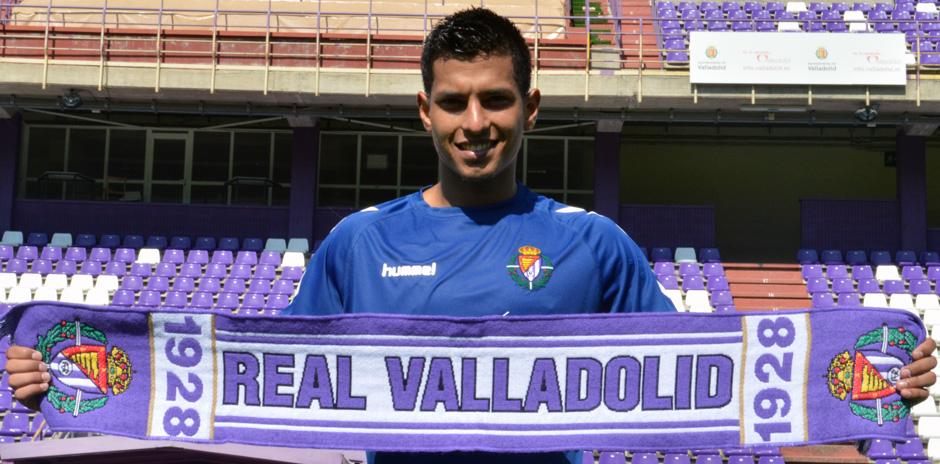 Renzo Zambrano durante su presentación como nuevo jugador del Real Valladolid el pasado mes de julio (RV.es)
