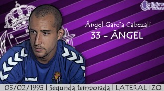 FICHA LAV. Todo sobre Ángl García,lateral zurdo del Real Valladolid 2015/2016