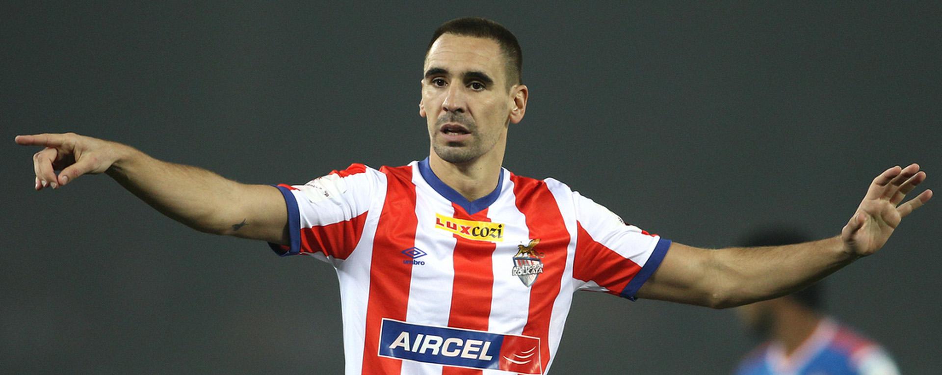 Borja Fernández en uno de los últimos partidos que disputó con la camiseta del Atlético de Kolkata (Goal)