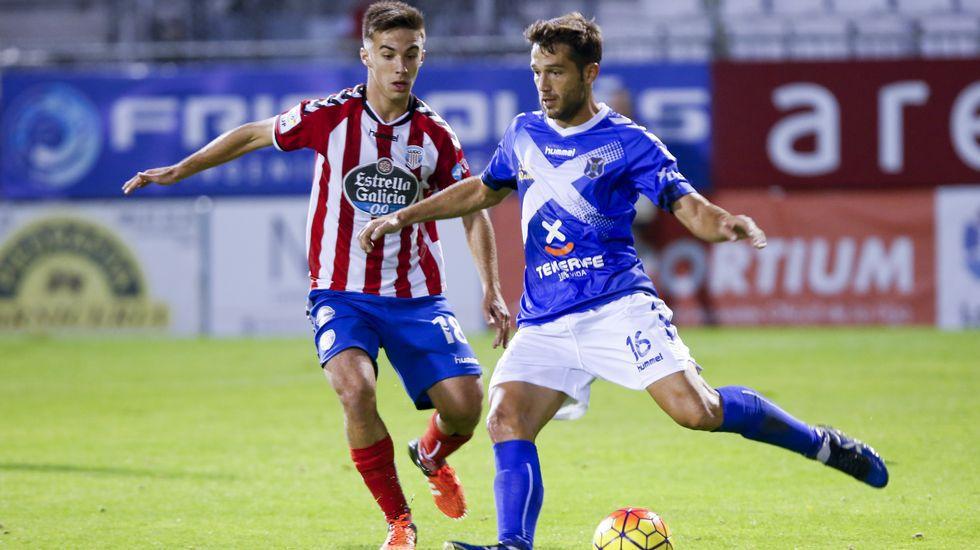 Sergio Marcos durante un partido entre el Lugo y el Tenerife de la pasada temporada (Marca)