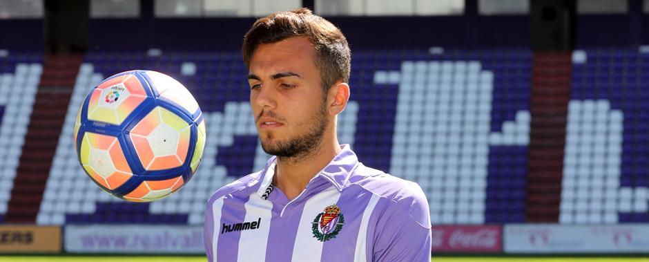 Joan Jordán durante su presentación en el estadio José Zorrilla durante el pasado mes de agosto <em><strong>(RealValladolid.es)</strong></em>
