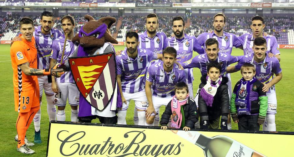 Once titular del Real Valladolid en el duelo ante el Club Deportivo Mirandés. Sin rombo ni Alex López <em><strong>(RealValladolid.es)</strong></em>