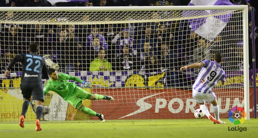 Jaime Mata anota el único tanto del Real Valladolid en la visita de la Real Sociedad al estadio José Zorrilla <em><strong>(LaLiga)</strong></em>