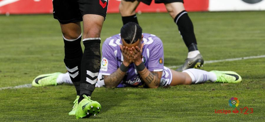 Raúl de Tomás se lamenta tras una ocasión marrada en el tiempo de descuento el partido <em><strong>(LaLiga)</strong></em>