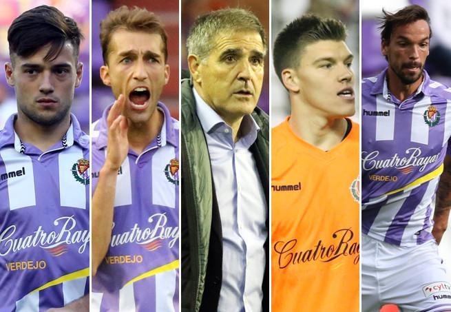 Cinco de los protagonistas que deberían solucionar los problemas pucelanos <em><strong>(RealValladolid.es)</strong></em>