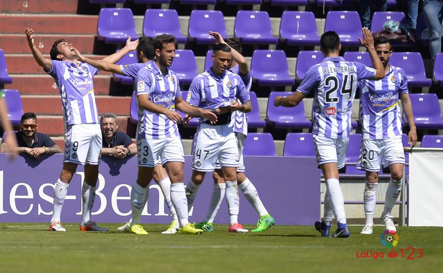 Jaime Mata celebra con mucha alegria el tanto de la victoria ante el Córdoba CF (LaLiga)