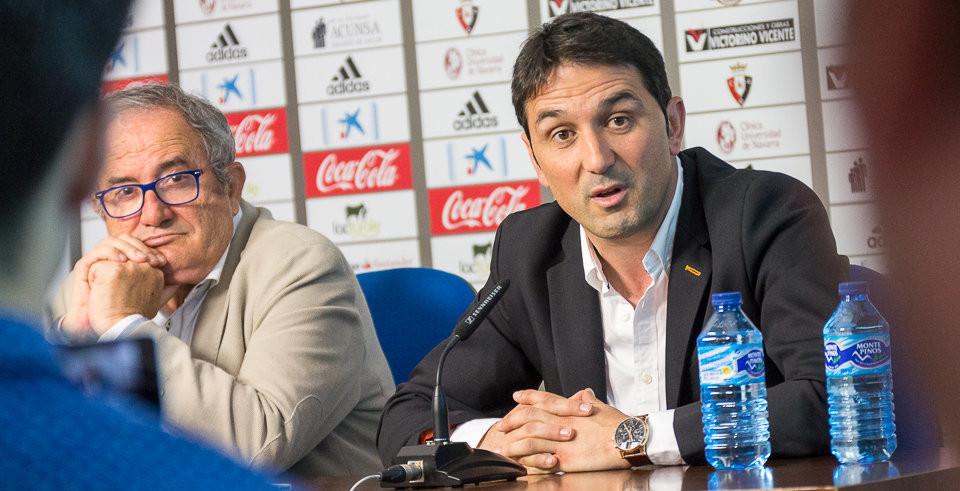 Braulio Vázquez, en su presentación como director deportivo de CA Osasuna <em><strong>(Iñigo Alzugaray | ElNavarra.com)</strong></em>