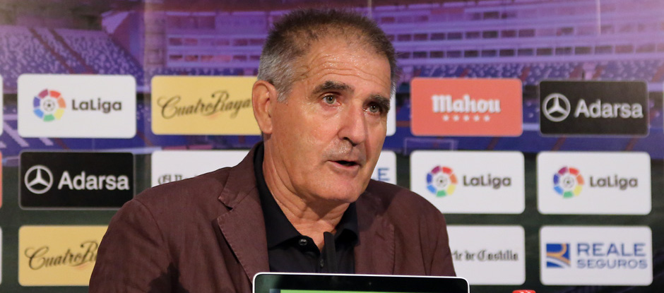 Paco Herrera, en una de sus últimas comparecencias en el Estadio José Zorrilla <em><strong>(RealValladolid.es)</strong></em>