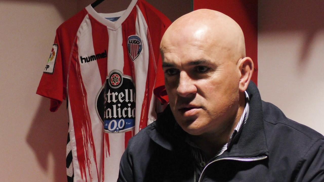 Luis César Sampedro, en una entrevista en su reciente etapa en el Club Deportivo Lugo <em><strong>(LuisCesarSampedro.com)</strong></em>