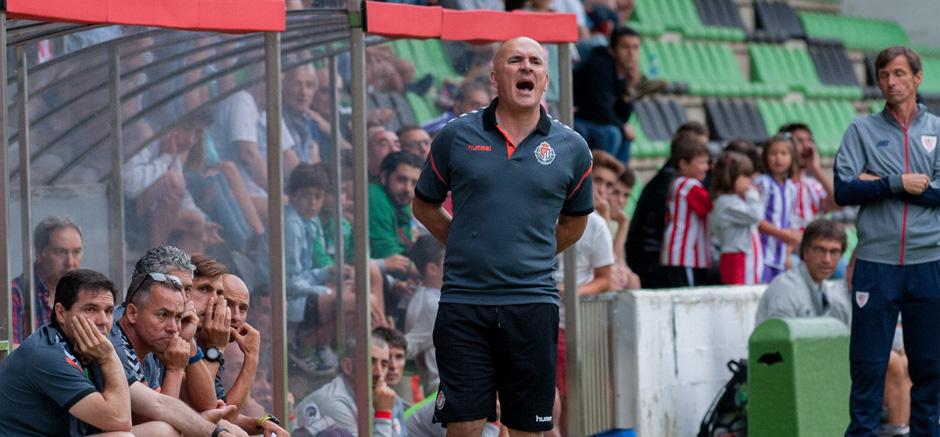 Luis César Sampedro, durante el duelo ante el Athletic Club disputado en Sestao <em><strong>(RealValladolid.es)</strong></em>