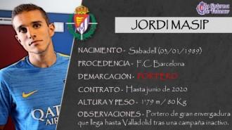 Presentación LAV de JORDI MASIP como nuevo portero del Real Valladolid para las tres próximas temporadas
