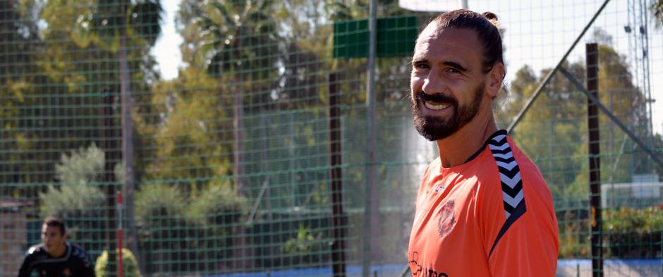 Borja Fernández, durante una entrenamiento de esta pretemporada en Marbella <em><strong>(RealValladolid.es)</strong></em>