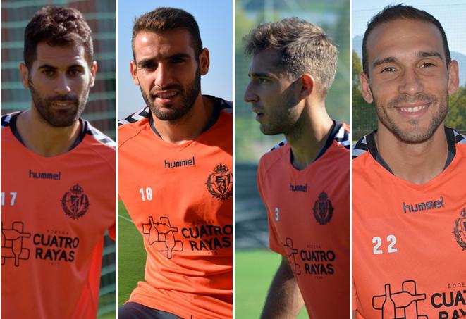 Los cuatro laterales de los que dispone Luis César Sampedro esta pretemporada <em><strong>(RealValladolid.es)</strong></em>