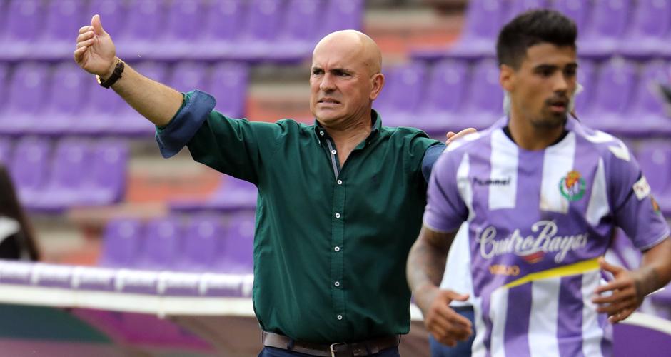 Luis César Sampedro e Ibán Savador, dos nombres propios de este Pucela, ante el Córdoba CF <em><strong>(RealValladolid.es)</strong></em>