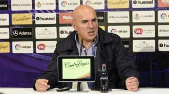 Luis César Sampedro, en la rueda de prensa previa al duelo en Leganés |  Foto: RealValladolid.es