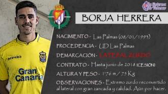 Presentación LAV de BORJA HERRERA como nuevo lateral del Real Valladolid para los cinco próximos meses