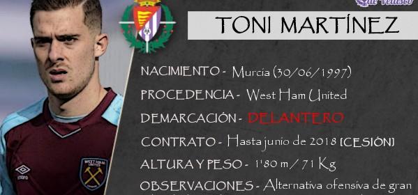 Presentación LAV de TONI MARTÍNEZ como nuevo jugador del Real Valladolid para los cinco próximos meses