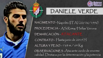 Presentación LAV de DANIELE VERDE como nuevo jugador del Real Valladolid para la próxima temporada