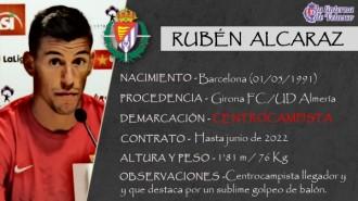 Presentación LAV de RUBÉN ALCARAZ como nuevo jugador del Real Valladolid para los cuatro próximos meses