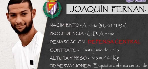 Presentación LAV de JOAQUÍN FERNÁNDEZ como nuevo jugador del Real Valladolid para las cinco próximas temporadas