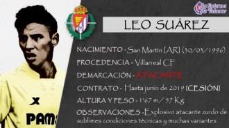 Presentación LAV de LEO SUÁREZ como nuevo jugador del Real Valladolid para la próxima temporada