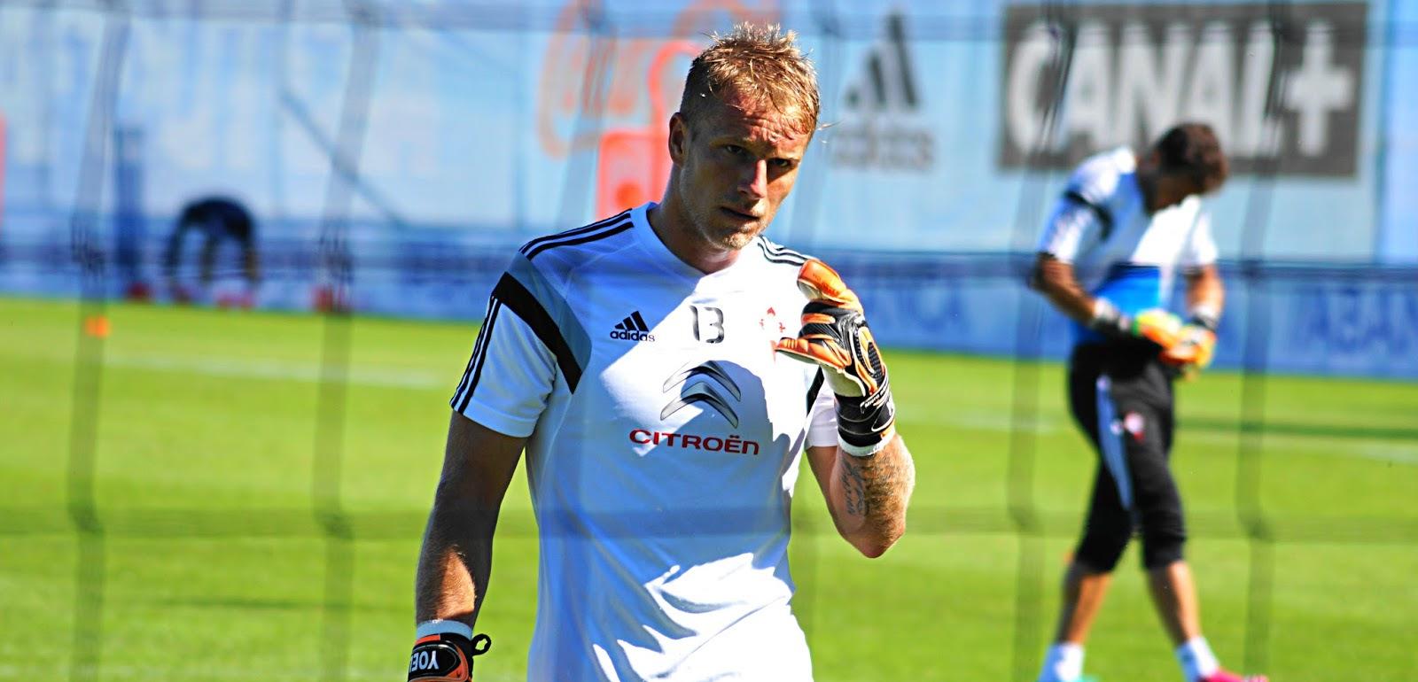 Yoel Rodríguez, en un entrenamiento en su etapa en el Celta de Vigo   <em><strong>Foto: CanteiraCeleste</strong></em>