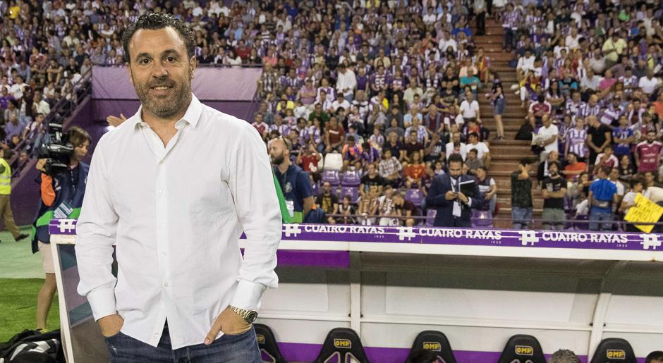 Sergio González, antes del partido ante el Fútbol Club Barcelona en el Estadio José Zorrilla | <em><strong>Foto: RealValladolid.es</strong></em>
