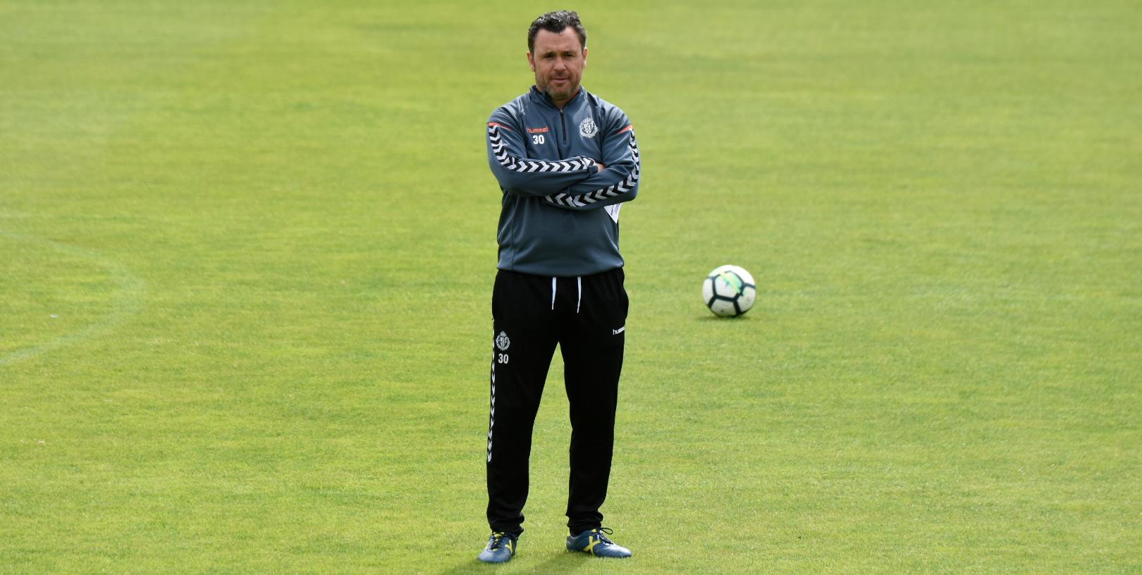 Sergio González, en un entrenamiento de la temporada pasada en los Anexos | <em><strong>Foto: Andrés Domingo - ElDesmarque Valladolid</strong></em>