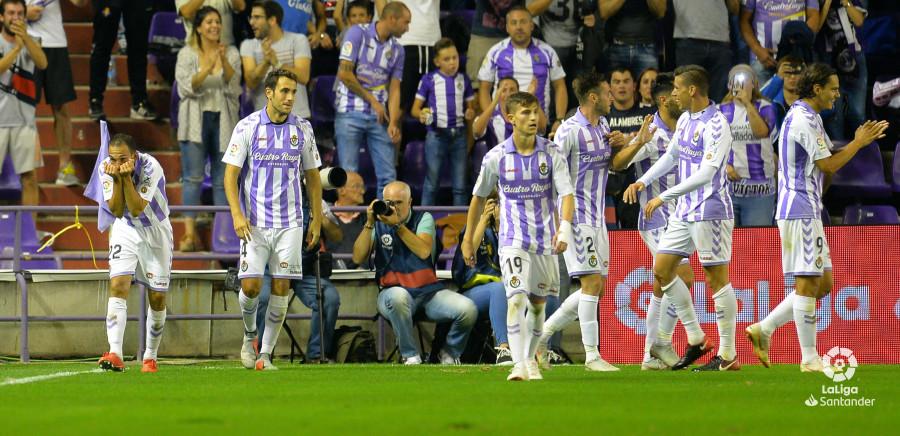 Nacho Martínez, junto al resto de los compañeros, celebra el gol de la victoria ante el Levante UD | <em><strong>Foto: LaLiga</strong></em>