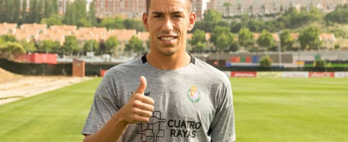 Rubén Alcaraz, antes de su primer entrenamiento como blanquivioleta esta pasada pretemporada | Foto: RealValladolid.es