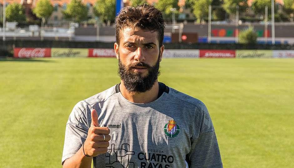 Daniele Verde, antes de su primer entrenamiento en los Anexos durante el pasado verano | <em><strong>Foto: RealValladolid.es</strong></em>