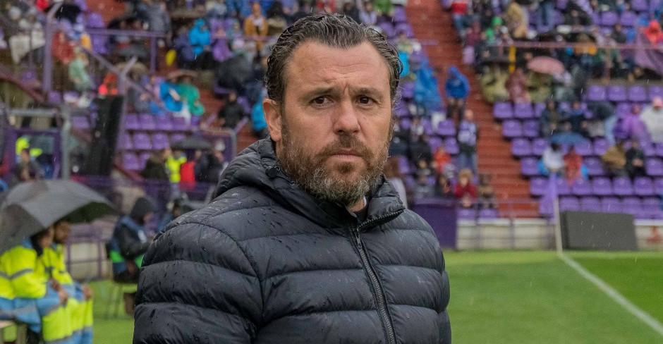 Sergio González, antes del partido ante la Sociedad Deportiva Éibar en el Estadio José Zorrilla | <em><strong>Foto: RealValladolid.es</strong></em>