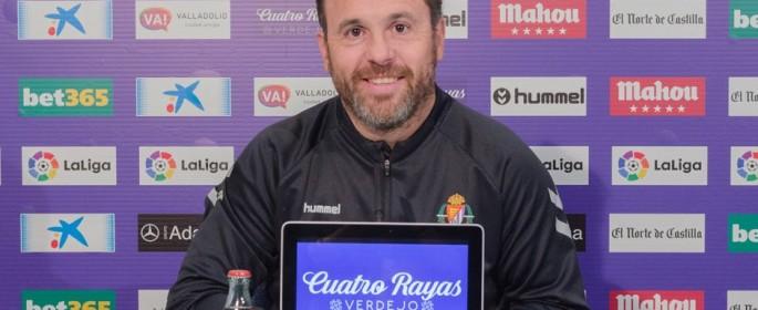 Sergio González, en una rueda de prensa en el Estadio José Zorrilla | Foto: RealValladolid.es